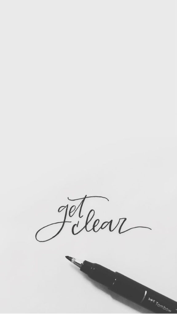 get clear hand-lettering ipone background